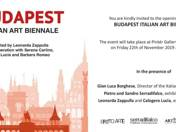 INVITATION TO THE OPENING CEREMONY OF BUDAPEST ITALIAN ART BIENNALE  - 22/11/2019 18:00 CET