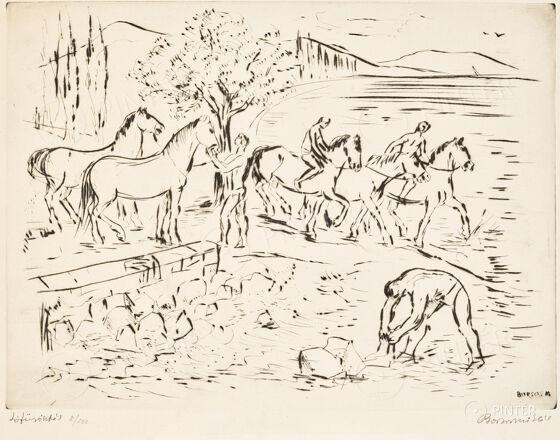 Miklós Borsos: Bathing horse