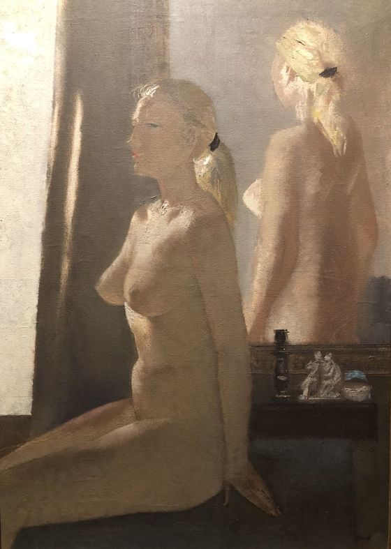 Alekszej Vlaszov: Nude in front of  mirror