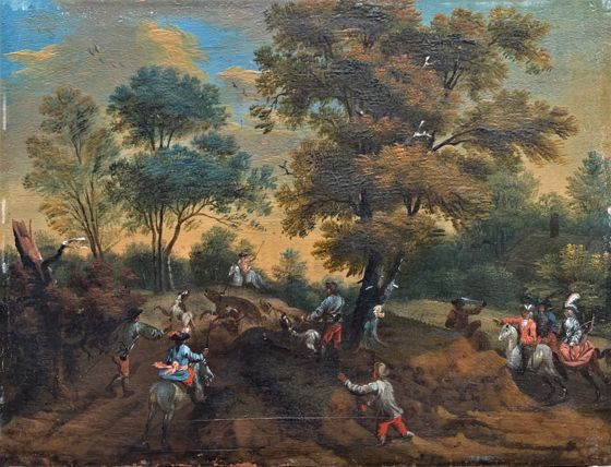 Augusto Querfurt: Hunting in the park - in pair