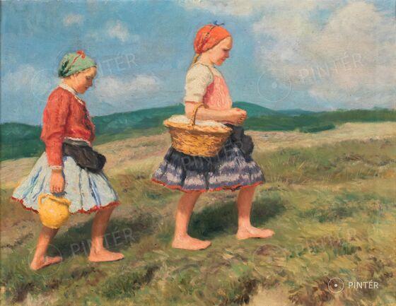 Oszkár Glatz: Girls with jugs