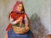 Young Girl with Basket