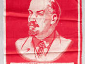 wall decoration with portrait of Lenin, VII. COMMUNIST CONGRES 1959 NOVEMBER