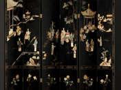 Oriental folding-screen