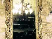 Historical standingmirror with consol-table