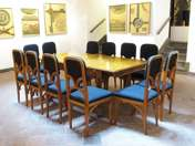 Art-nouveau dining table with 12 chairs
