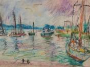 Sailboats on Balaton