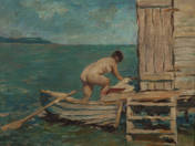 Nude at the bathhouse