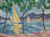 Sailboats at the Lake