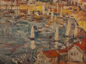 Bay with Sailboats