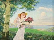 Lady with Bouquet at Balaton