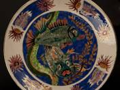 Ornamented Plate with Fish