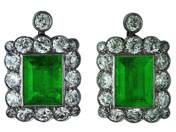 Pair of Emerald Earrings