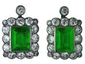 Pair of Emerald Earrings