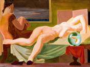 Recumbent Nude with Goldfish