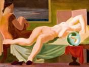 Recumbent Nude with Goldfish