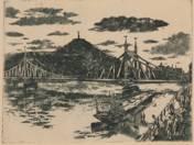 Liberty Bridge with Gellért Hill