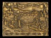 Budapest 1873-1973 bronze plaque