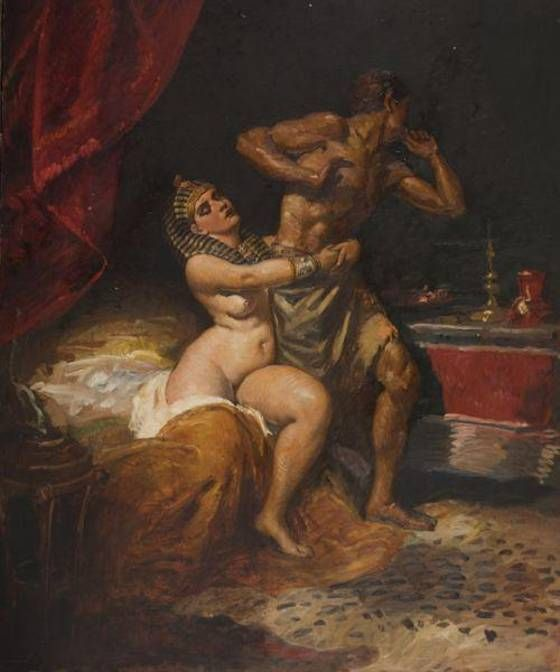 Miklós Mihalovits: Joseph and Potiphar's wife - Pinter Auctions