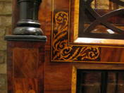 Biedermeier three-door inlaid bookcase  (around 1880)