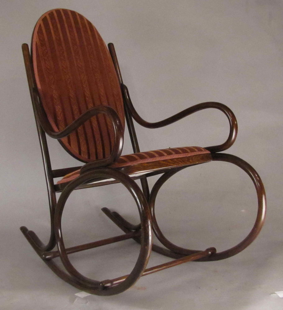 Thonet rocking chair pinter auctions for Chair design 1930