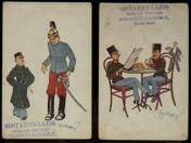 4 pcs Austrian World War postcard caricature