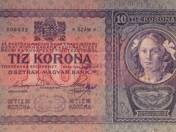 10 Serbian Corona with Stamp