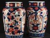 Pair of Ornamental Vases with Imari Decoration