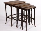 Thonet 4 pcs collapsible offering tables