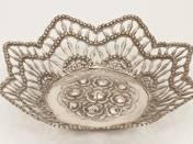 Pest silver pierced offering bowl