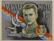 Hungarian Post 1 Ft- János Asztalos (1918-1956)