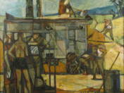 At the thresing machine (late of 50s)