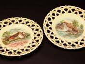 Zsolnay Plate with Landscape Decoration in Pair