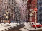 Pannónia Street in Winter