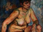 Vilmos Perlrott Csaba: Sitting nude