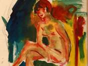 Nude with High-heeled Shoes