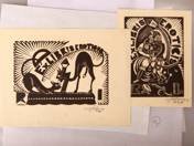 2 pieces of ex libris