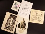 5 pieces of ex libris