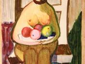 Sitting Nude with Fruit Basket, 1956