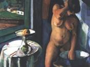 Vilmos Perlrott Csaba: Female Nude Having a Wash