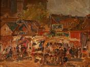 Papucs Market on Teleki Square, 1924