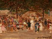 Saint's-day on Batthyány Square, 1924