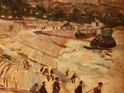 Fishermen at the Quay of Buda, 1924