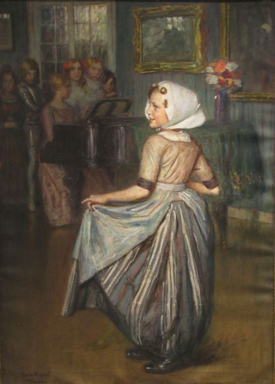 Knopf, Hermann (1870-1928): Dance Training (oil, canvas, 103 x 74 cm, s.l.l.: Her. Knopf München) starting price: 800.000 HUF