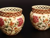 Zsolnay Pots in Pair