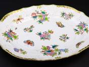 Herend Oval Offering Bowl with Victoria Decoration