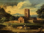 Romantic land with figures
