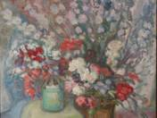 Flower Still Life with Pipes