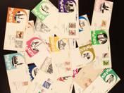 Malév envelopes - First flight, 19 pcs