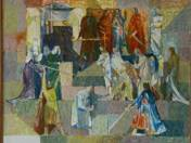 Fresco-plan of Erkel Theatre (Bánk bán - sketch I.) (1959)